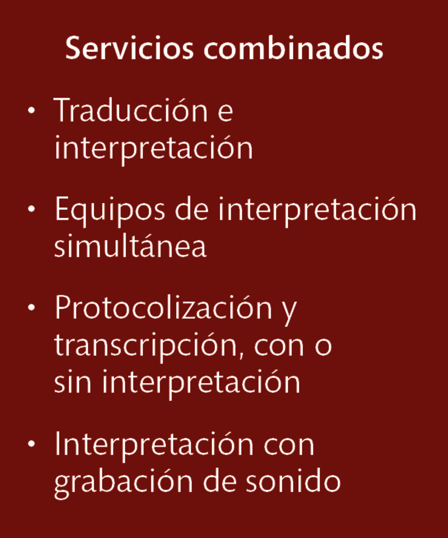 LT Lawtank - Servicios de interpretación - Audiencias e interrogatorios, Conferencias, Legalizaciones, Mediaciones, Negociaciones contractuales, Procedimientos arbitrales, Procedimientos de conciliación, Transacciones en el marco de fusiones y adquisiciones de empresas