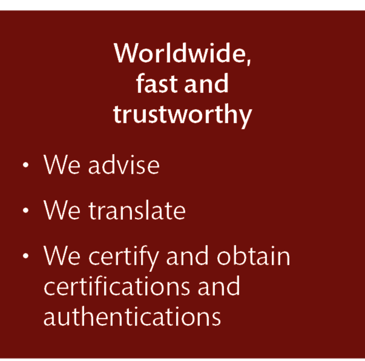 LT Lawtank - Certified translations - Worldwide, fast, trustworthy