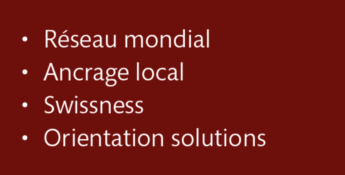 LT Lawtank - Réseau mondial, Ancrage local, Swissness, Orientation solutions